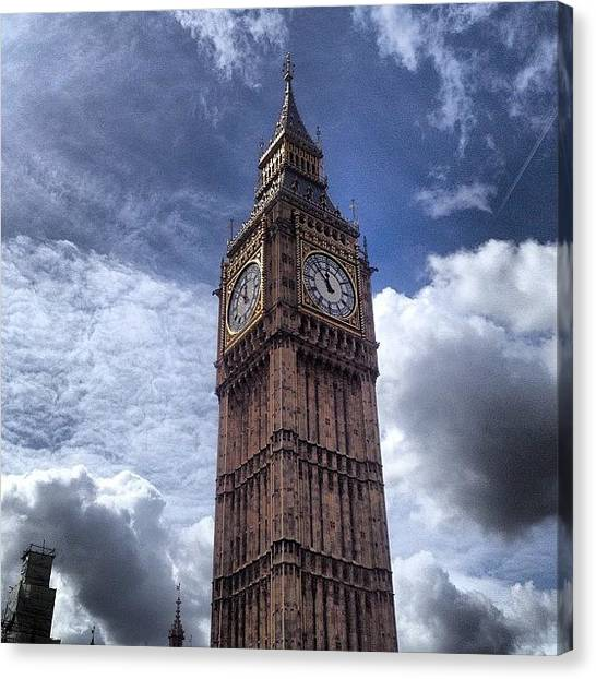 Big Sky Canvas Print - #bigben #big #ben #london #city by Becky Veal