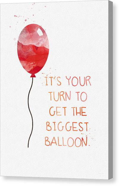 Party Canvas Print - Biggest Balloon- Card by Linda Woods