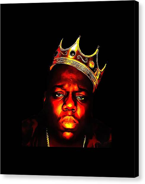 Cottonmouths Canvas Print - Biggie Smalls by Aji Zaith