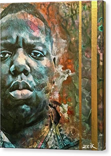 Biggie - Stick And Move Canvas Print by Bobby Zeik