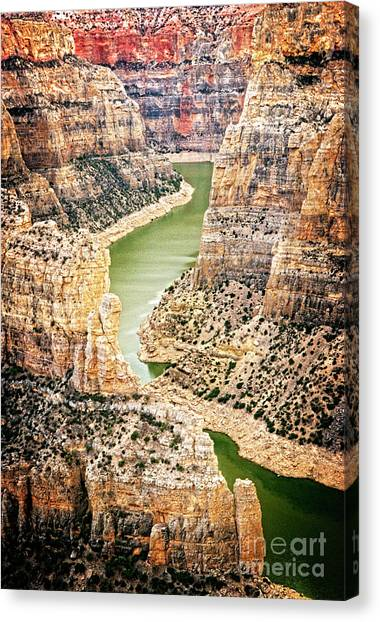 Canvas Print featuring the photograph Bighorn River by Scott Kemper