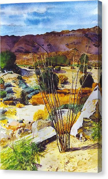 Bighorn Yard Canvas Print