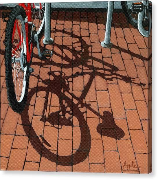 Ohio University Canvas Print - Bike And Bricks  by Linda Apple