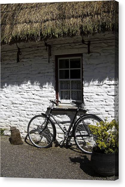 Bike At The Window County Clare Ireland Canvas Print