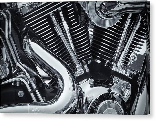 Bike Chrome Canvas Print