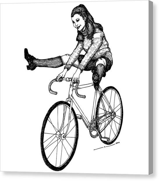 Bike Fun Canvas Print by Karl Addison