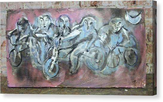 Bike Gang Canvas Print by Dean Cercone