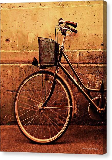 Bicycle At Rest, Paris  Canvas Print