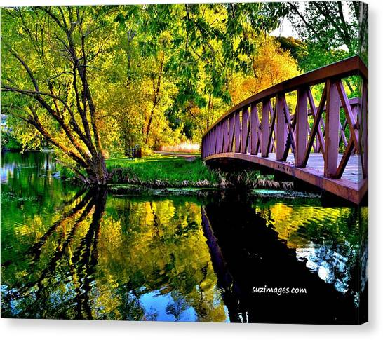 Bike Path Bridge Canvas Print