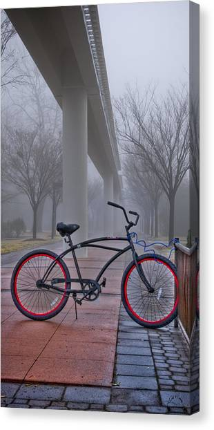 Conference Usa Canvas Print - Bike Under Maglev by Williams-Cairns Photography LLC