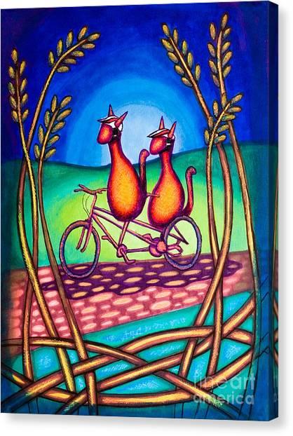 Biker Kats Canvas Print