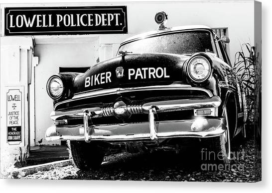 Police Officers Canvas Print - Biker Patrol by DiFigiano Photography