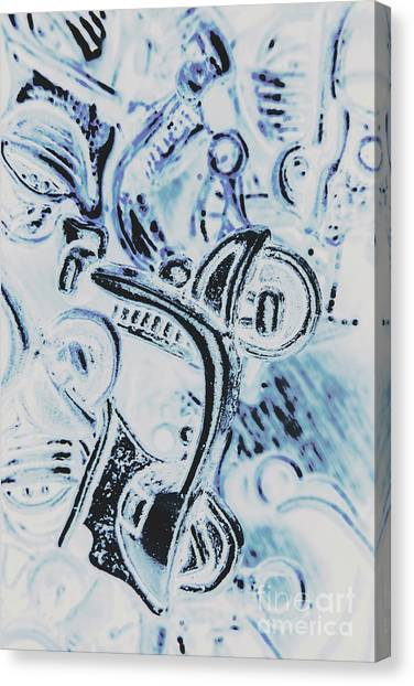 Scoot Canvas Print - Bikes And Blue Cities by Jorgo Photography - Wall Art Gallery
