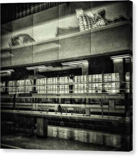 Trains Canvas Print - Bilbao Train Station #train #station by Rafa Rivas