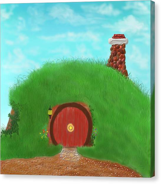 Bilbo's Home In The  Shire Canvas Print