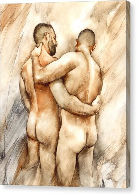 Nudes Canvas Print - Bill And Mark by Chris Lopez