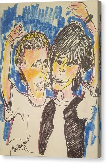 Keanu Reeves Canvas Print - Bill And Ted Excellent Adventure by Geraldine Myszenski