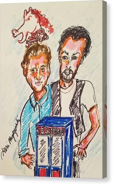 Keanu Reeves Canvas Print - Bill And Teds Excellent Adventures by Geraldine Myszenski