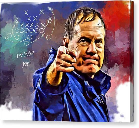 New York Giants Canvas Print - Bill Belichick Do Your Job by Scott Wallace