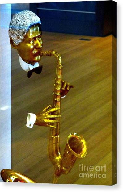Bill Clinton Canvas Print - Bill Clinton Saxophone by Randall Weidner