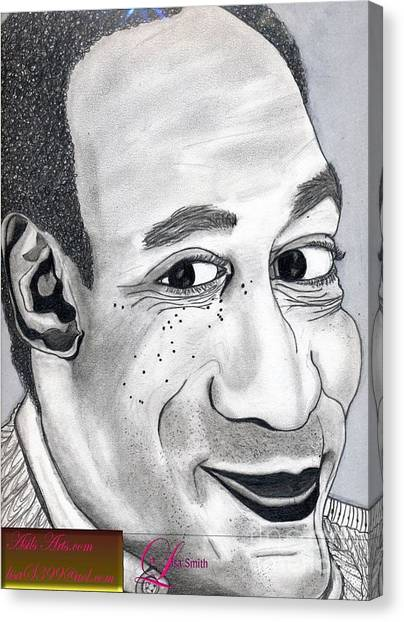 Bill Cosby Canvas Print by Asils Arts Lisa