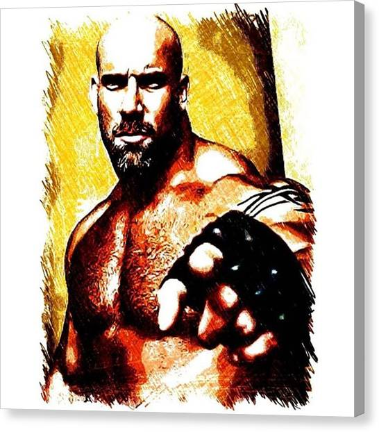 Wwe Canvas Print - Bill Goldberg #wrestling #billgoldberg by Ant Jones