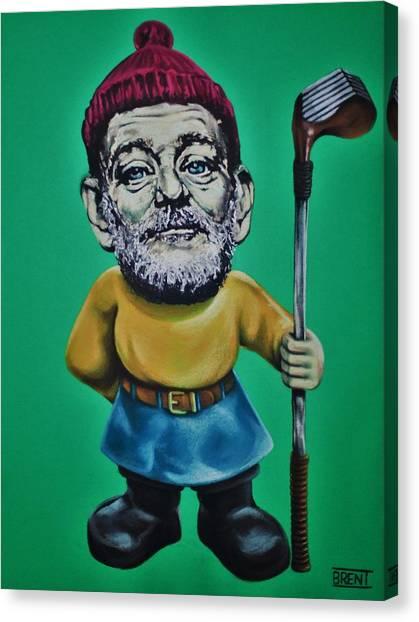 Bill Murray Golf Gnome Canvas Print