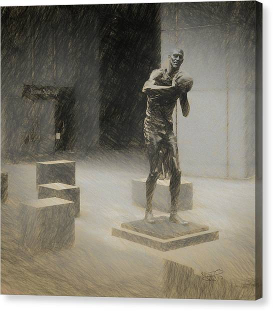 Bill Russell Statue Canvas Print