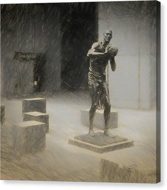 Bill Russell Statue Canvas Print