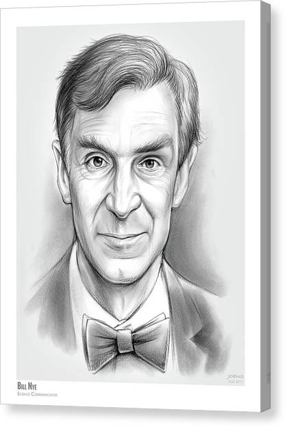 Science Canvas Print - Bill The Science Guy by Greg Joens
