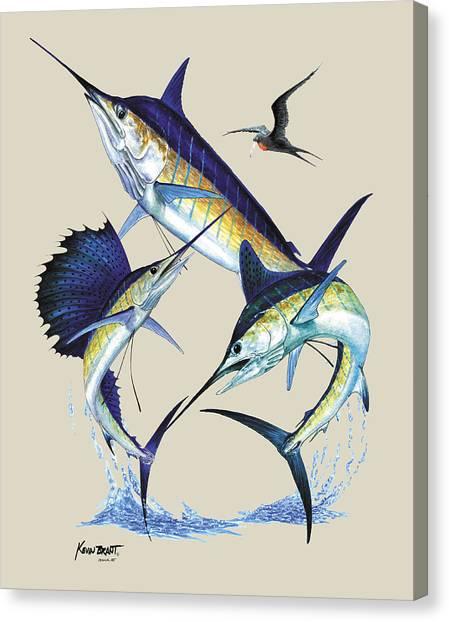 Billfish Slam Canvas Print