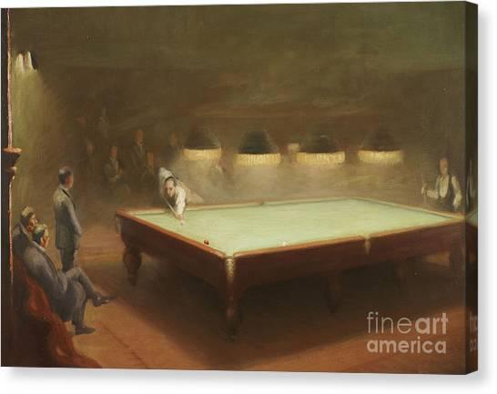 Gent Canvas Print - Billiard Match At Thurston by English School