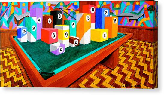 Billiard Table Canvas Print