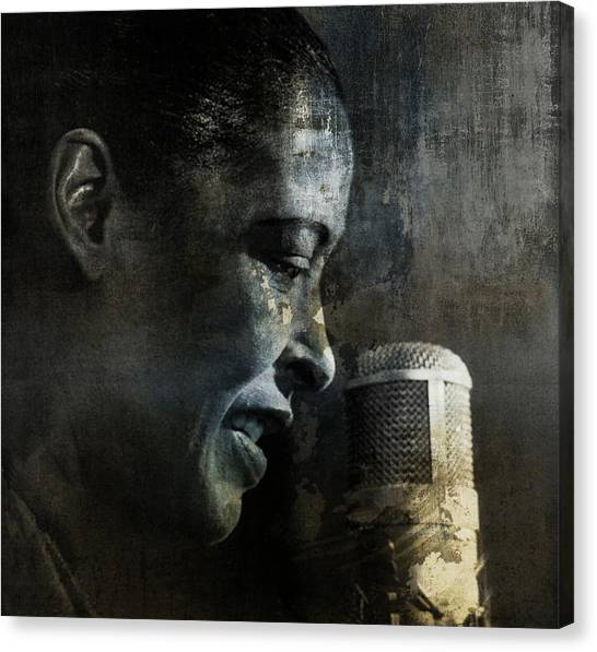 Pennsylvania Canvas Print - Billie Holiday - All That Jazz by Paul Lovering