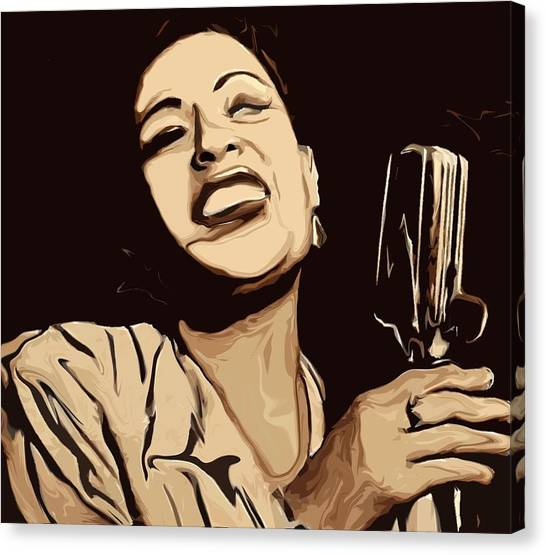 Rhythm Canvas Print - Billie Holiday by Jeff DOttavio