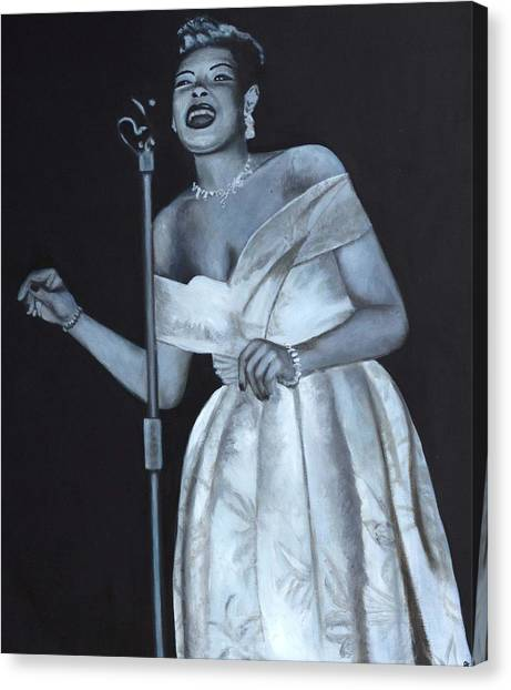 Billie Holiday Canvas Print by Patrick Kelly