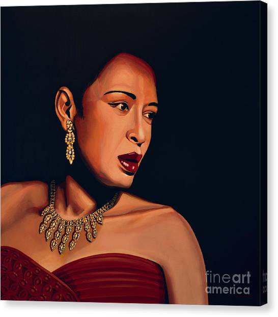 Summertime Canvas Print - Billie Holiday by Paul Meijering