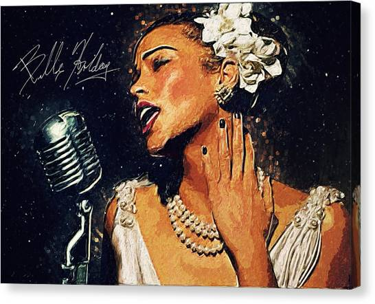 Harlem Canvas Print - Billie Holiday by Taylan Apukovska