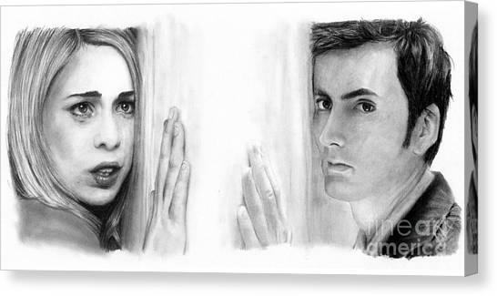 Billie Piper And David Tennant Canvas Print by Rosalinda Markle