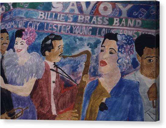 Billie's Brass Band Canvas Print