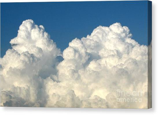 Canvas Print featuring the photograph Billowing Clouds 1 by Rose Santuci-Sofranko