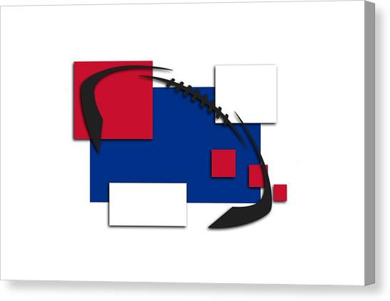 Buffalo Bills Canvas Print - Bills Abstract Shirt by Joe Hamilton