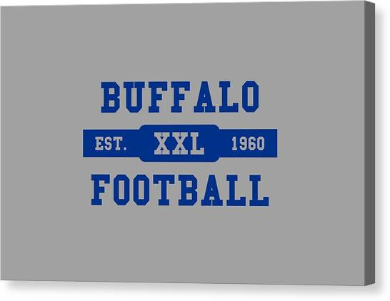 Buffalo Bills Canvas Print - Bills Retro Shirt by Joe Hamilton