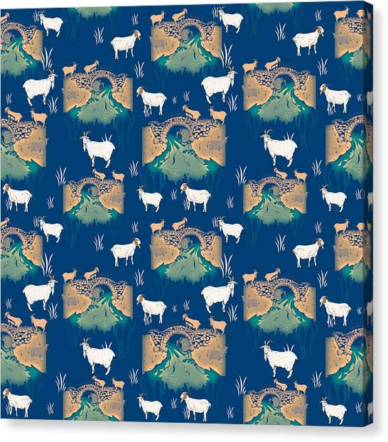 Goats Canvas Print - Billy Goat Gruff by Beth Travers