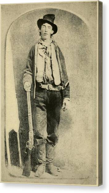 Cowboy Boots Canvas Print - Billy The Kid 1859-81, Killed Twenty by Everett