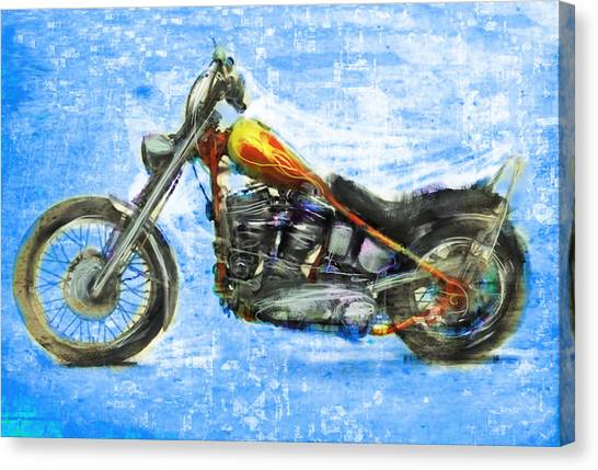 Dennis Hopper Canvas Print - Billy's Bike by Russell Pierce