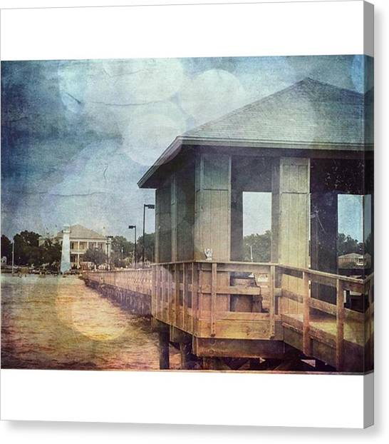 Lighthouses Canvas Print - Biloxi #biloxibeach #msgulfcoast by Joan McCool
