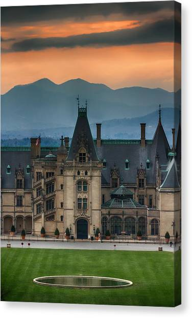 Biltmore At Sunset Canvas Print by John Haldane