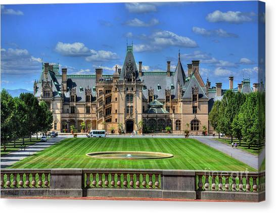 Biltmore Mansion Estate Asheville North Carolina  Canvas Print