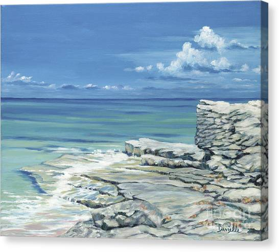 Carribbean Canvas Print - Bimini Blues by Danielle  Perry